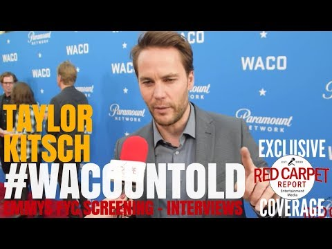 Taylor Kitsch interviewed at Paramount Network's #WACOuntold FYC Screening #Emmys