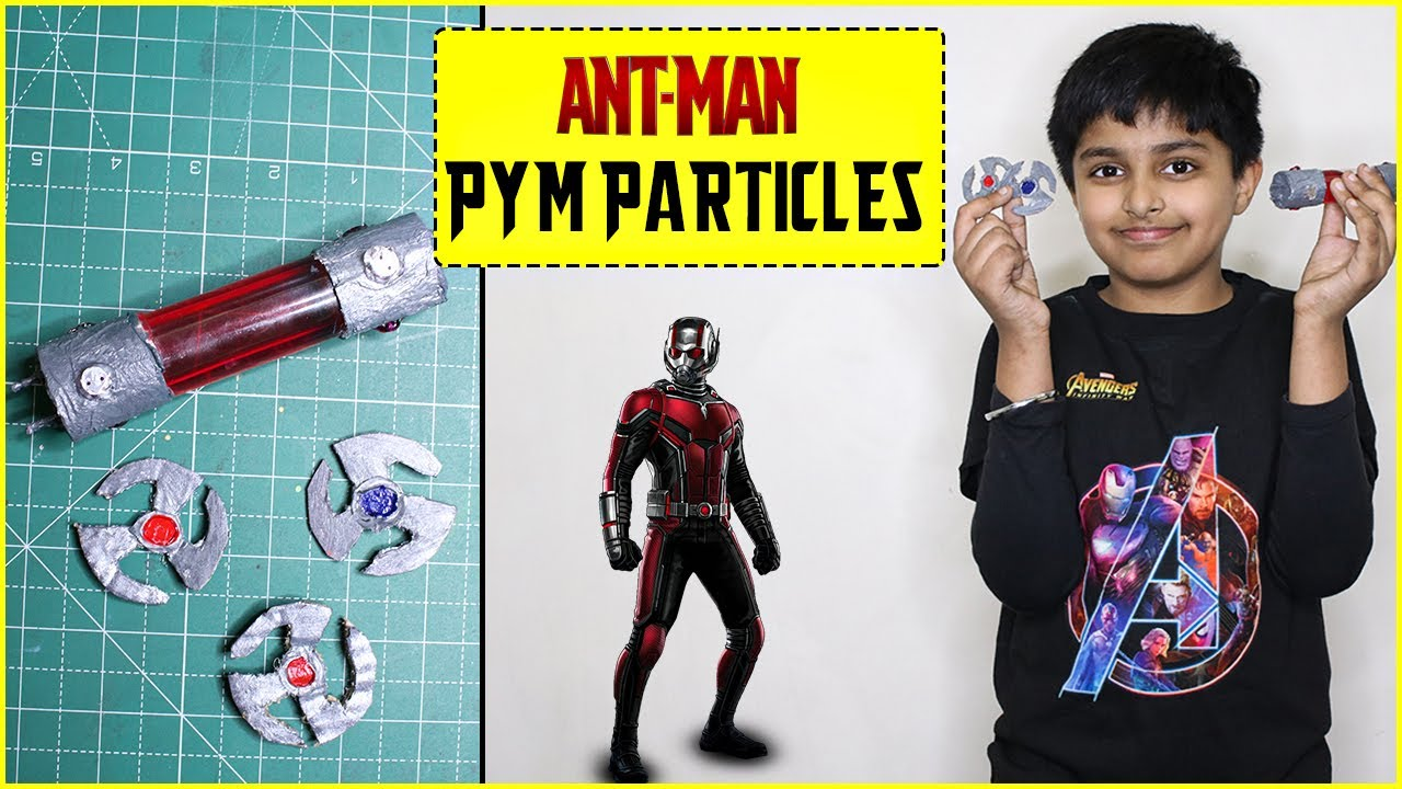 How to make Ant Man - Pym Particles and Pym Disk Replica at home   Easiest Avengers Craft Idea