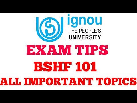IGNOU EXAM TIPS BSHF 101 IMPORTANT TOPICS CHAUHAN VIDEOS