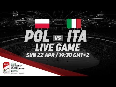 Poland - Italy | Live | 2018 IIHF Ice Hockey World Championship Division I Group A