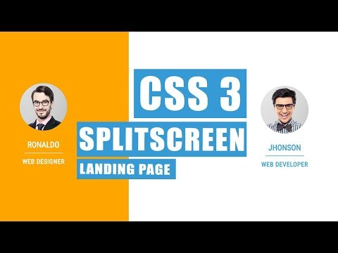 css split screen | Nikkies Tutorials