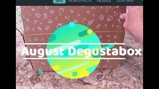 August Degustabox Opening - Subscription Box