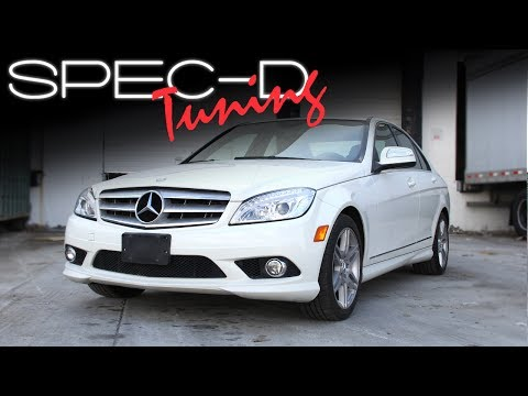 SPECDTUNING INSTALLATION VIDEO: 2008-2011 MERCEDES BENZ C-CLASS W204  PROJECTOR HEADLIGHTS