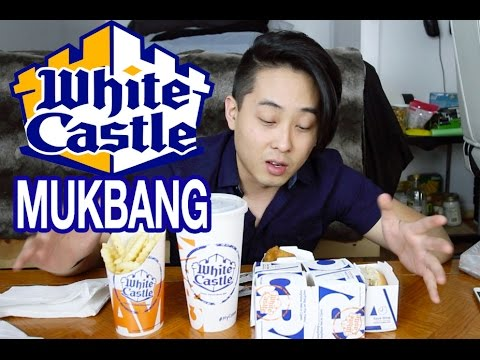 WHITE CASTLE SLIDERS & FISH NIBBLERS | MUKBANG | FOOD REVIEW