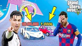 1000 LİRALIK ARABA VS 100 MİLYON LİRALIK ARABA YARIŞI! - GTA 5 RONALDO VE MESSİ