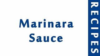 Marinara Sauce ITALIAN FOOD RECIPES | EASY TO LEARN | RECIPES LIBRARY