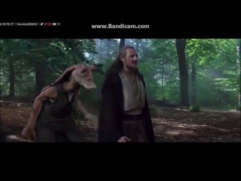 Jar Jar Binks Meets Qui Gon Jinn Hd Star Wars Youtube