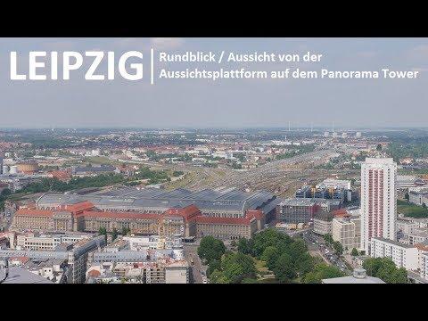 LEIPZIG l Aussicht vom Panorama - MDR Tower (City Hochhaus / Uni - Riesen) HD