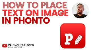 HOW TO PLACE TEXT ON IMAGE IN PHONTO