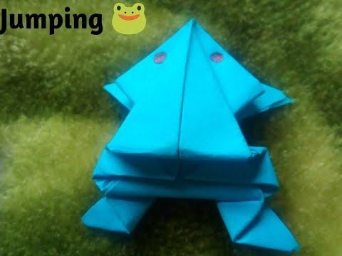 #HowtomakePaperFrog   DIY - Jumping Frog   Paper Crafts Jumping Frog  