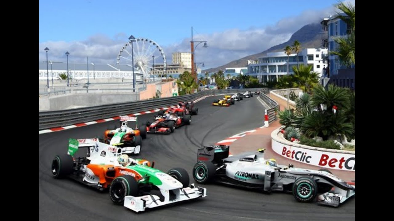 Race Cars In Cape Town City Youtube