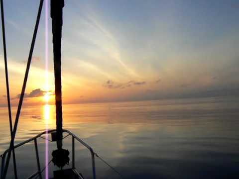 "Sunrise without wind ""sailing  from Costa Rica to the Galapagos february 2011"""