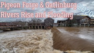 Flooding Pigeon Forge and Gatlinburg Tennessee 2020