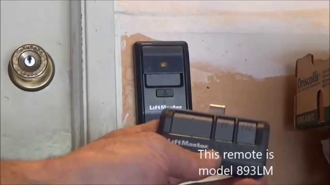Program Liftmaster Remote 893lm With Wall Button Youtube