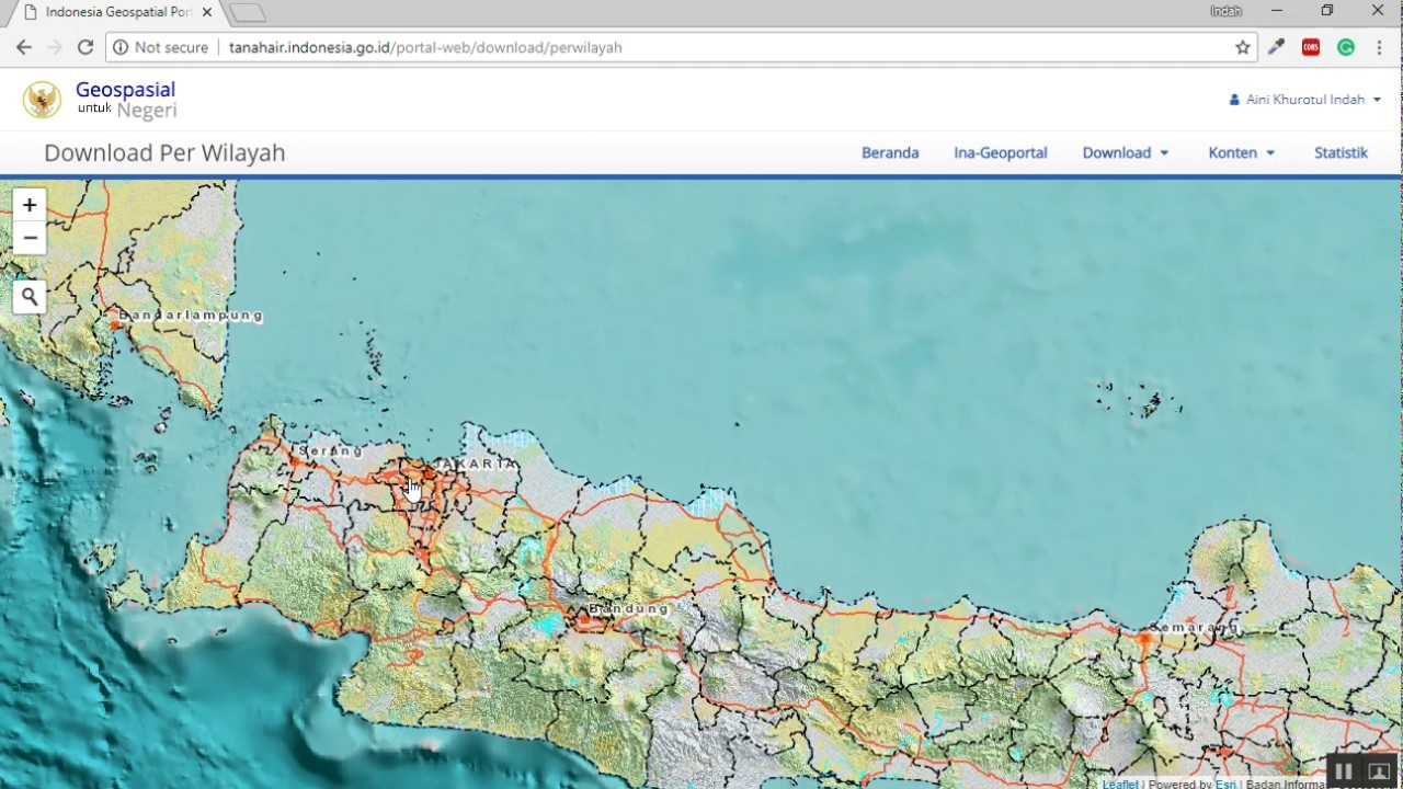 Cara Download Peta Per Wilayah Aplikasi Ina-Geoportal - YouTube