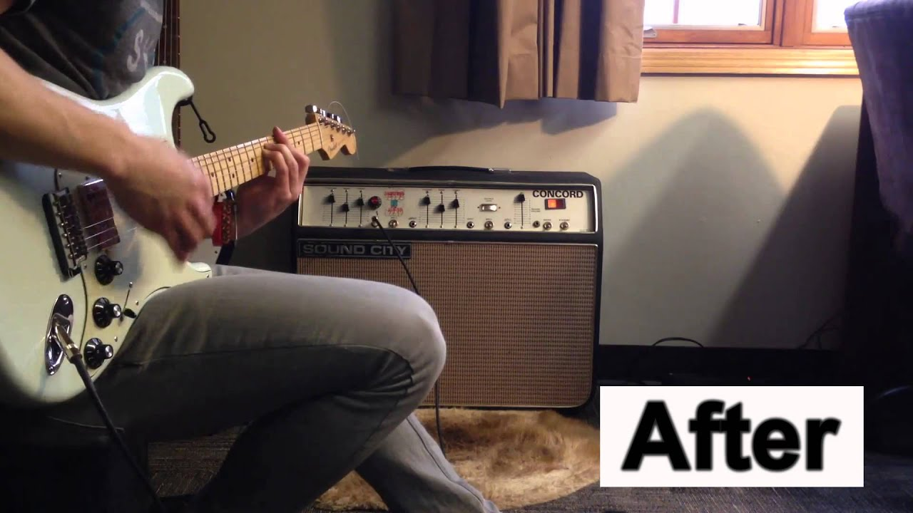 Replacing tubes on a Sound City Concord: Before and After (Svetlana EL34's)