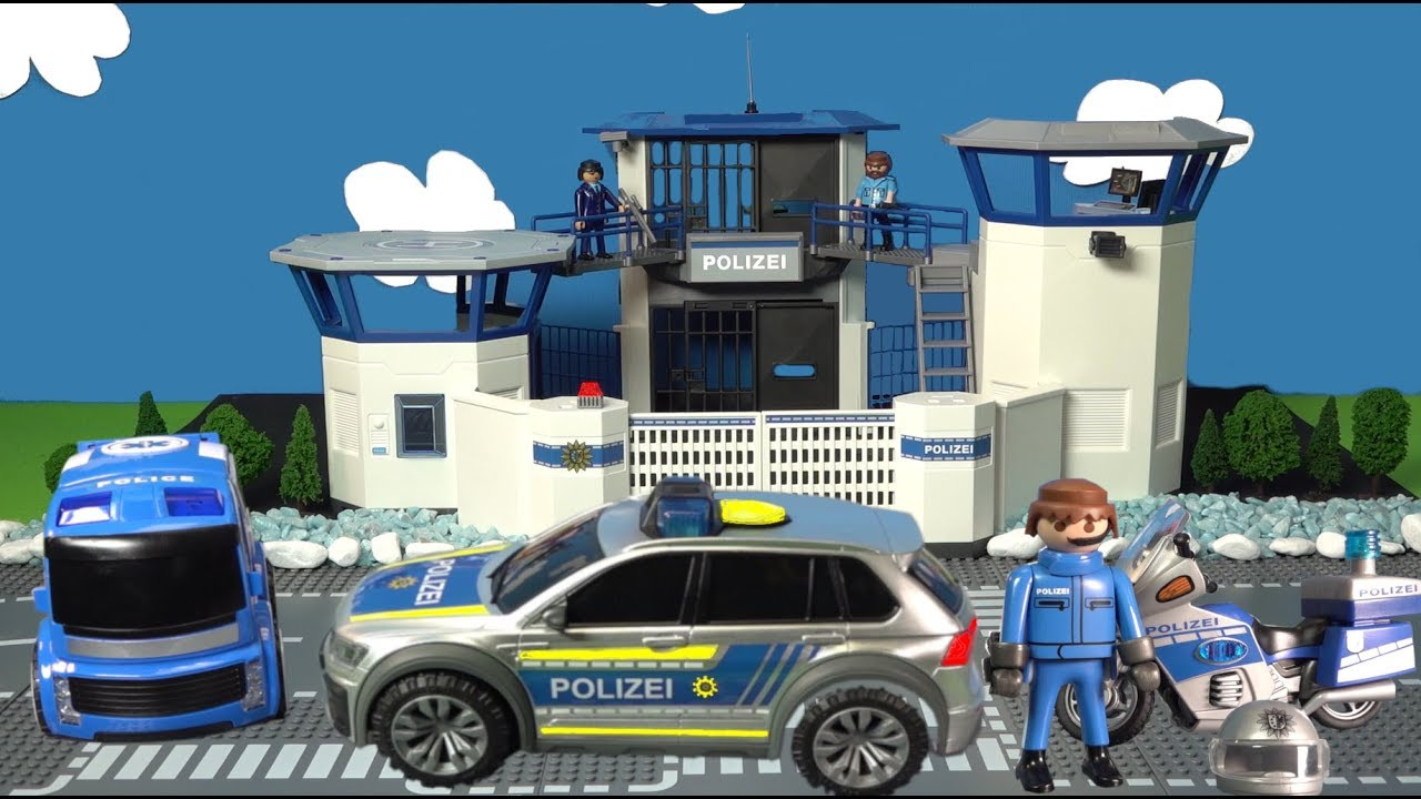 polizeiauto spielzeuge spielzeugautos von playmobil f r. Black Bedroom Furniture Sets. Home Design Ideas