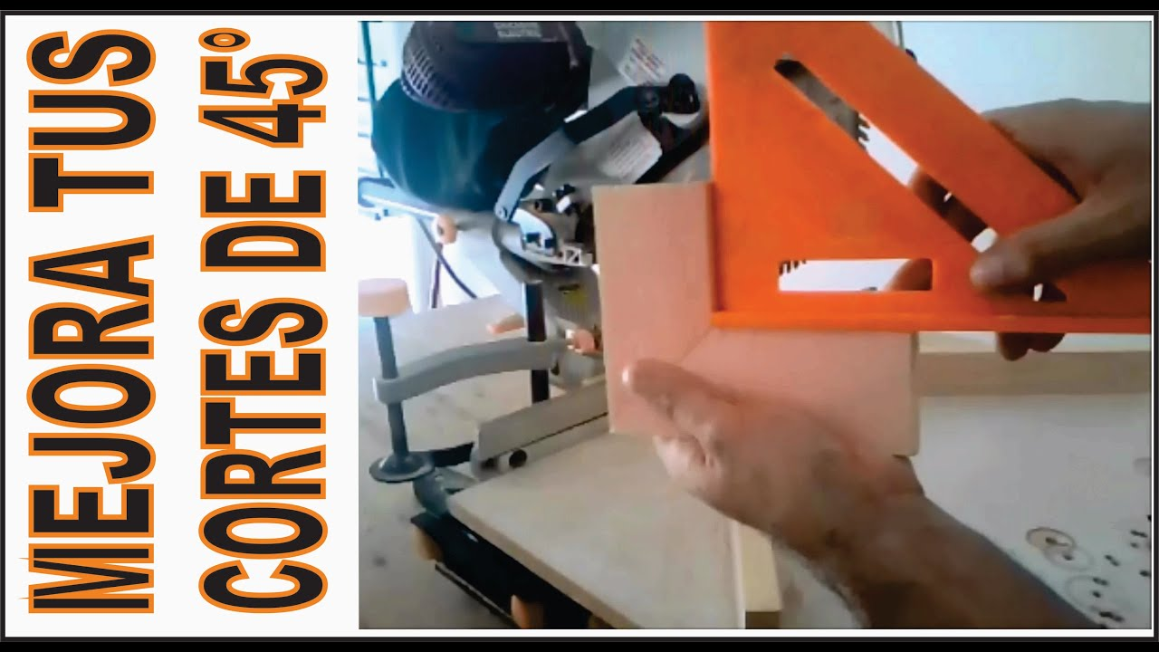 CORTE 45 GRADOS MADERA / DIY WOODWORK - YouTube