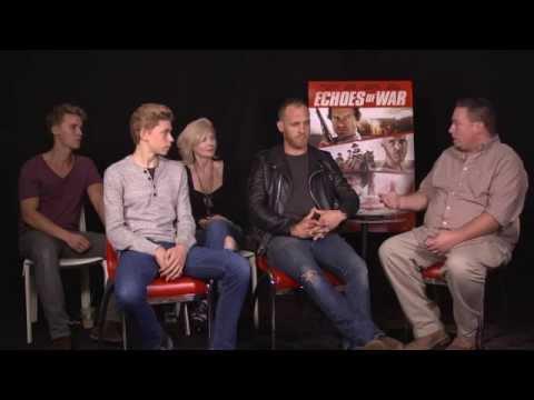 Rhys Wakefield, Beth Broderick, Owen Teague & Ethan Embry of ECHOES OF WAR