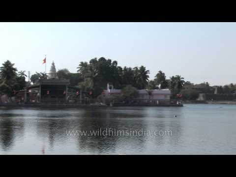 Siddheshwar lake temple in Solapur, Maharashtra, India