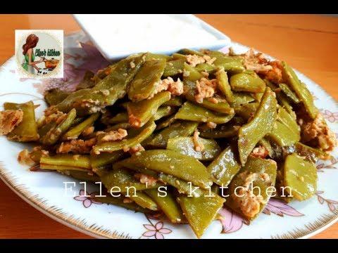 Зеленая фасоль(Лоби) с яйцом (по-армянски) ''Green Beans With Eggs''