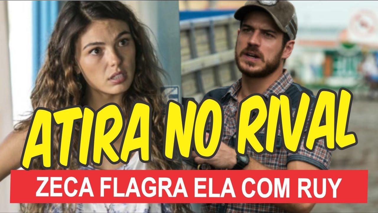 Novela A Força do Querer - Zeca vê Ritinha entrar em barco com Ruy e toma atitude desesperada