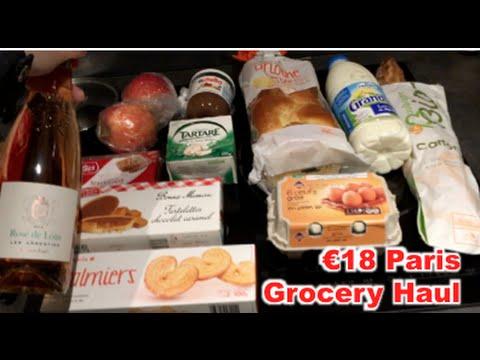 €18 Paris Vacation Grocery Haul