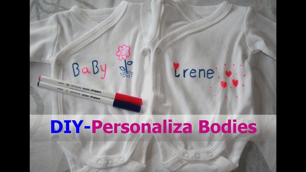 cbe62eb43 ✄ DIY  Cómo personalizar bodies infantiles - YouTube