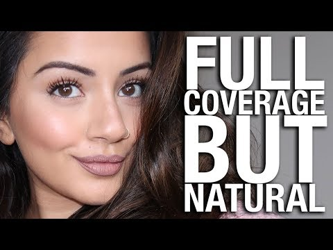 NATURAL BUT FULL COVERAGE MAKEUP TUTORIAL