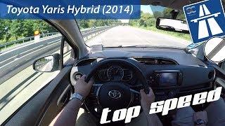 Toyota Yaris Hybrid (2014) on German Autobahn - POV Test Drive