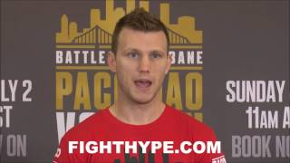 JEFF HORN EXPLAINS 10-POINT GAME PLAN TO KO PACQUIAO WITH MARQUEZ