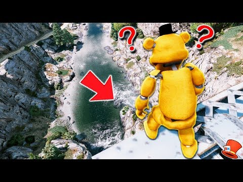 GUESS IF FREDDY WILL JUMP OFF THE TALLEST BRIDGE! (GTA 5 Mods For Kids FNAF RedHatter)
