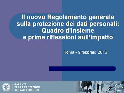 Incontro regolamento generale protezione dati_09.02.2016