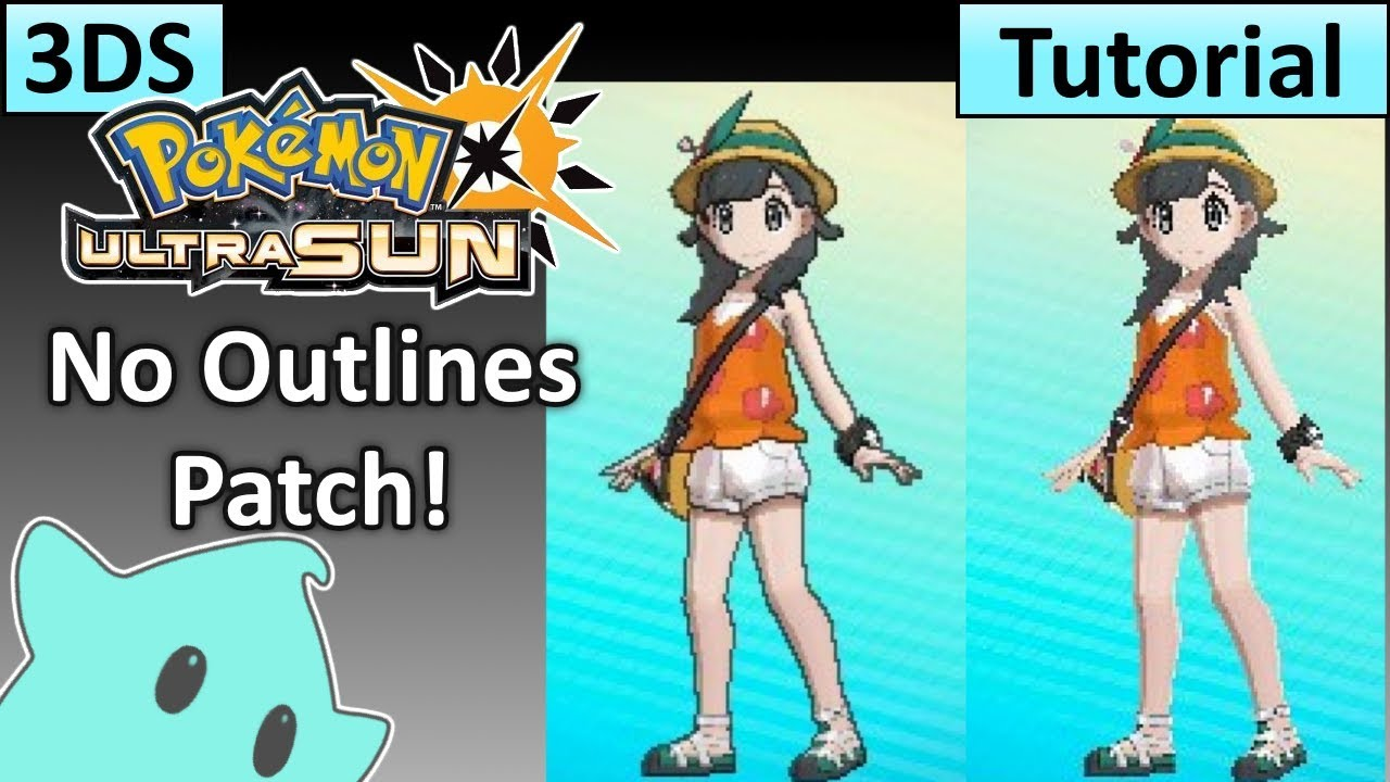 How to Install `No Outlines Patch` - Pokemon Ultra Sun & Ultra Moon - Luma  CFW Only