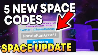 5 NEW SPACE CODES IN ROBLOX MAGNET SIMULATOR
