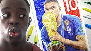 KYLIAN MBAPPE PEN DRAWING - WORLD CUP 2018 WINNER AT 19 | FRANCE
