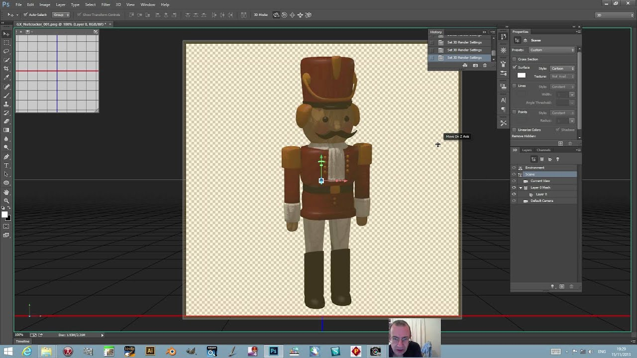 Photoshop cc 14 1 use 3d layers for 2d sketch effects