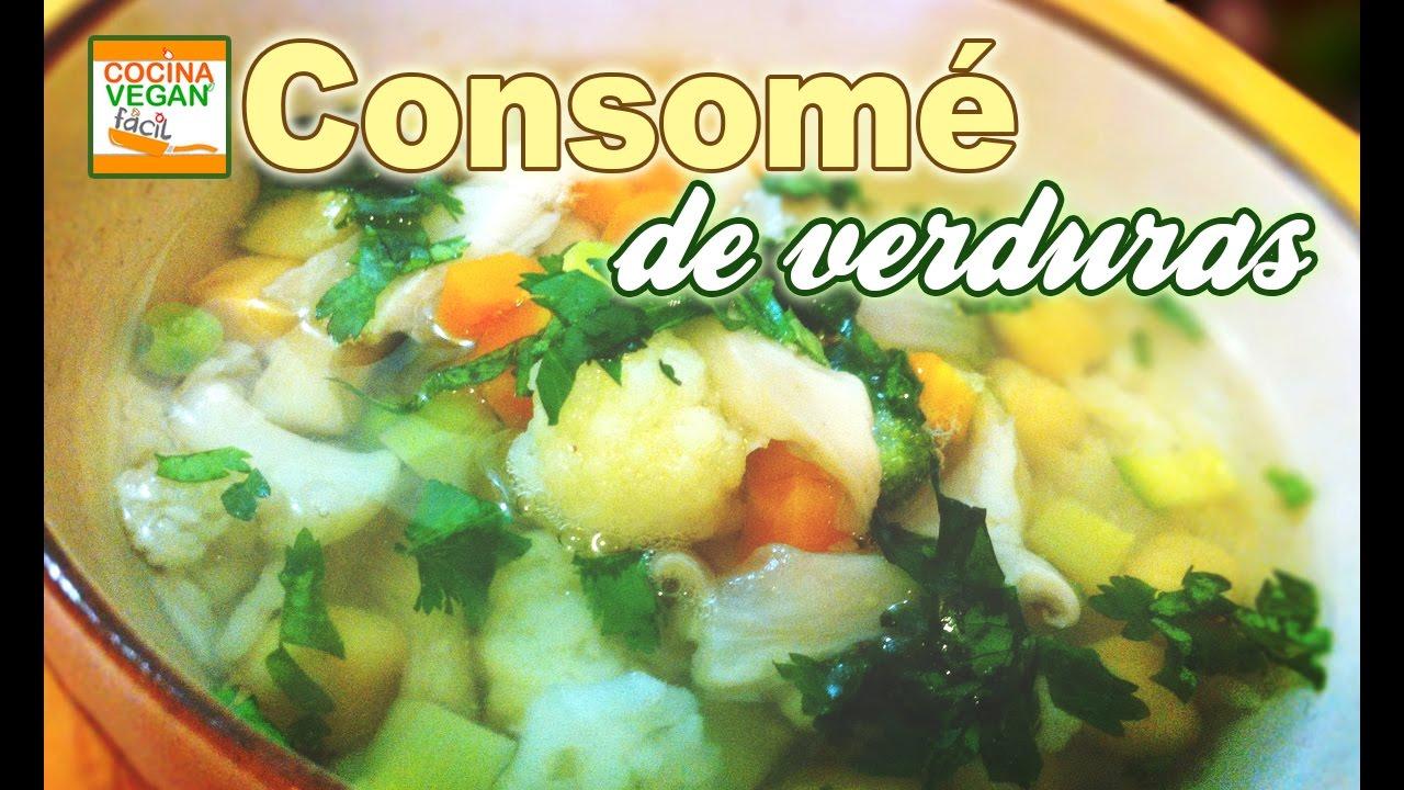 Consom de verduras  Cocina Vegan Fcil  YouTube