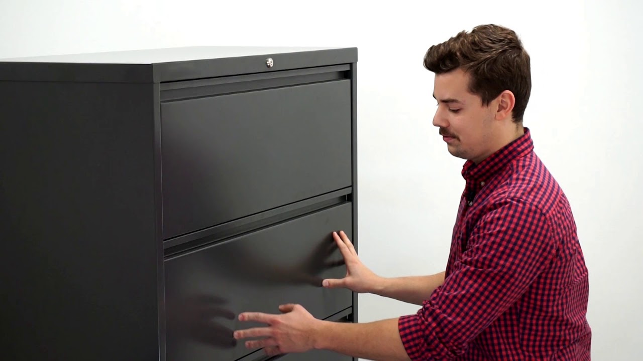 Fix A Lateral File Cabinet If The Drawers Won T Open Youtube