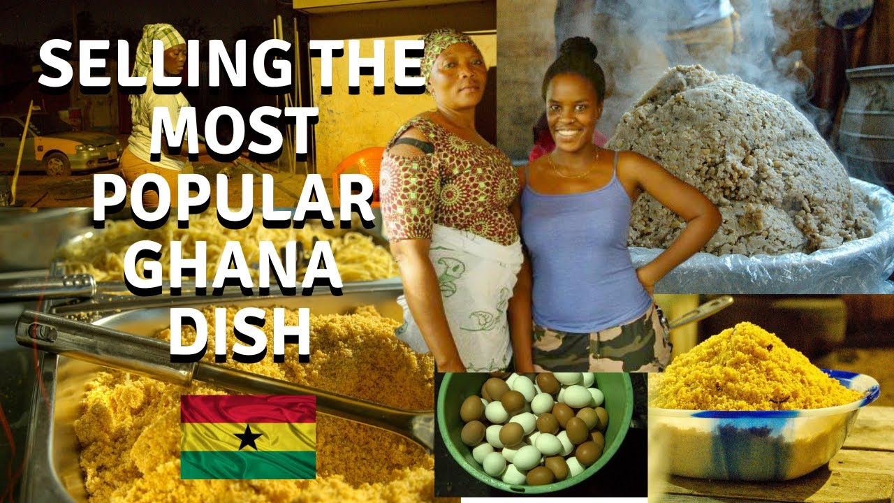 A DAY IN THE LIFE OF SELLING POPULAR AFRICAN STREET FOOD | GHANA WAAKYE RECIPE| AFRICAN FOOD RECIPES