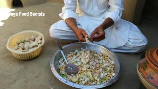 Chana Chaat Recipe or White Chickpeas Chaat ❤ Grandma's Village Style ❤ Village Food Secrets