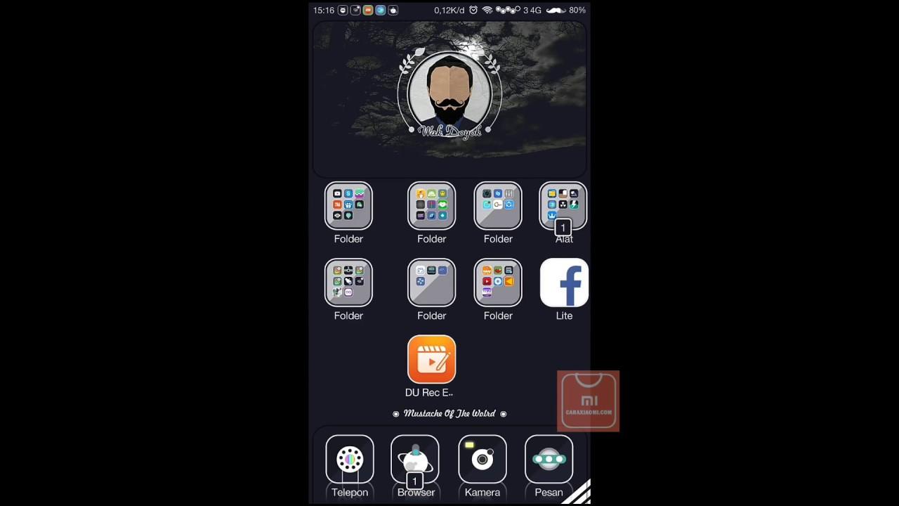 MIUI Theme Wak Doyok Dark Mtz For Xiaomi - YouTube