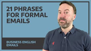21 Phrases For Foŗmal Emails - Business English