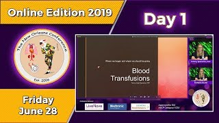 TNOC 2019 Day 1 Blood Transfusions When and why Morbidities associated with transfusion Hemodilution