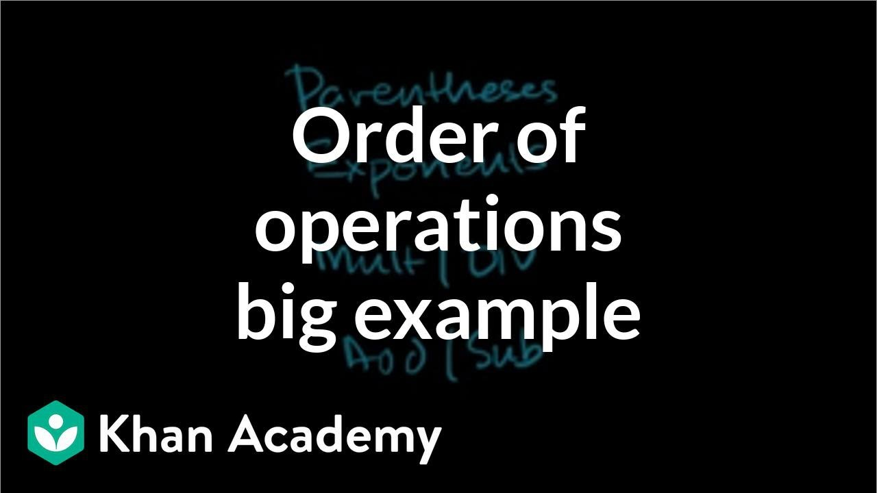 Order of operations example (video) | Khan Academy