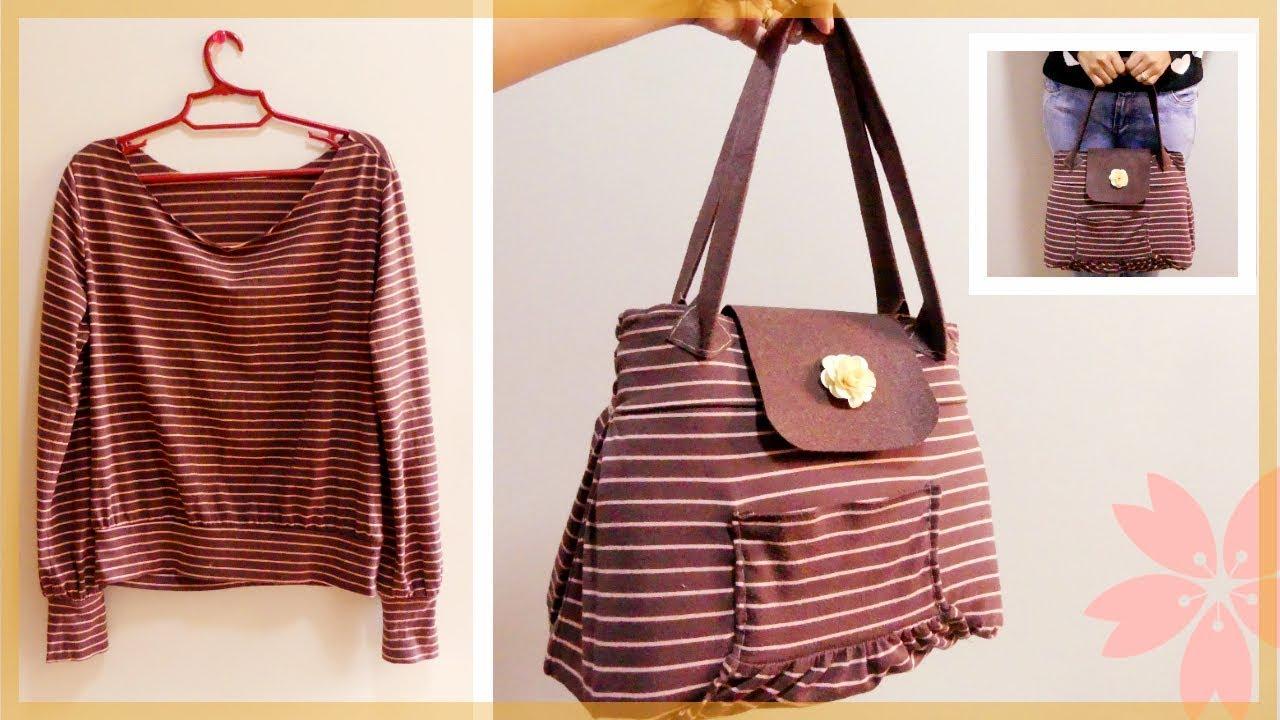 DIY Handbag: From Long Sleeve Shirt to Spacious Handbag ...
