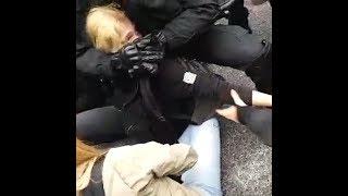 Polizeigewalt bei Blockaderäumung