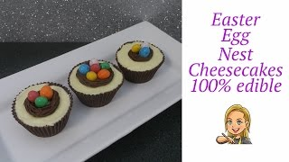 Easter Egg Nest White Chocolate Cheesecakes - 100% Edible