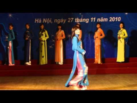 Hanoi Miss University với màn trình diễn áo dài Dáng lụa-Hà Nội phố