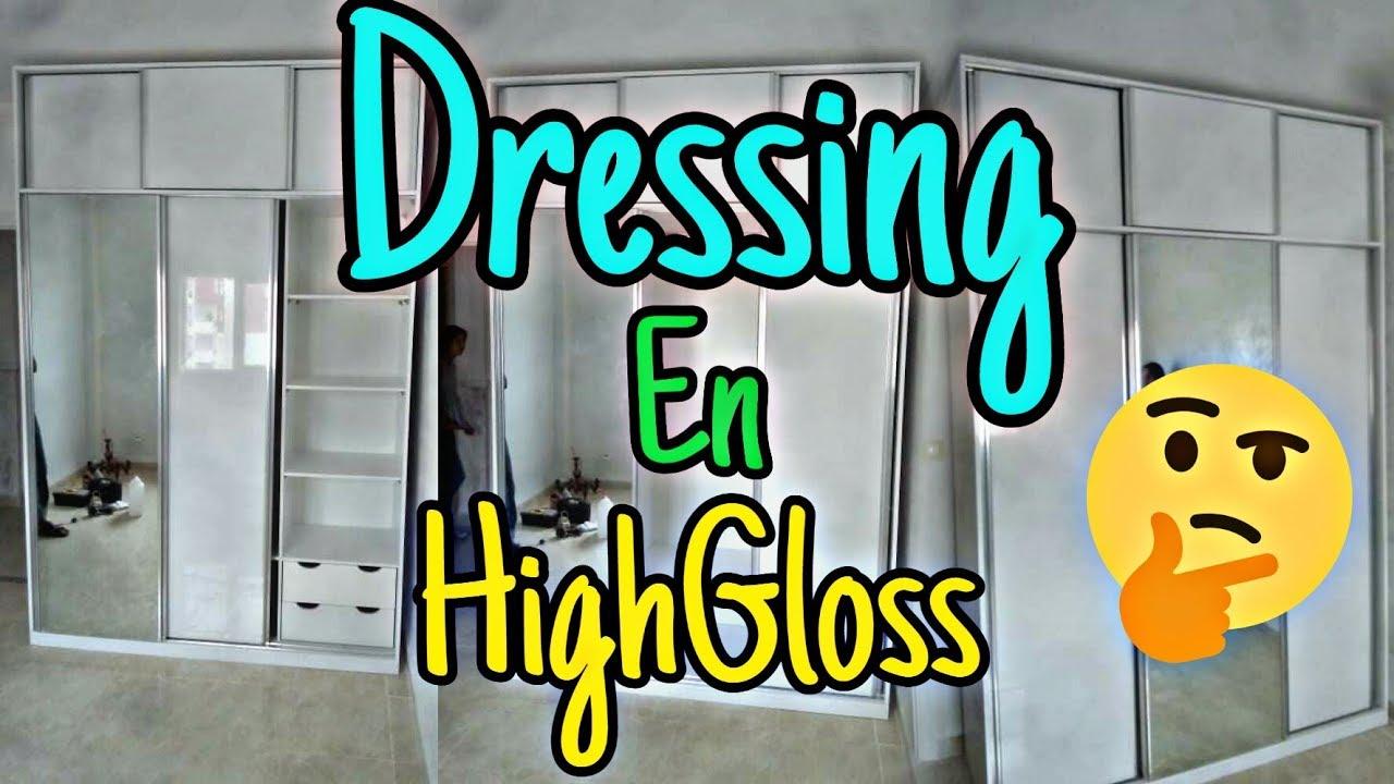 Dressing Ikea Pas Cher dressing en highgloss دريسينج - youtube